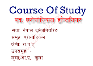 Aeronautical Engineer Gazetted Third Class Officer Level Course of Study/Syllabus