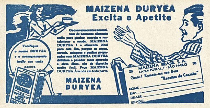 Propaganda antiga da Maizena promovendo seu composto alimentar em 1941