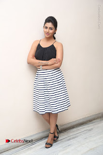 Telugu Actress Kruthika Jayakumar Stills in Short Dress at Intlo Deyyam Nakem Bhayam Success Meet  0293.JPG