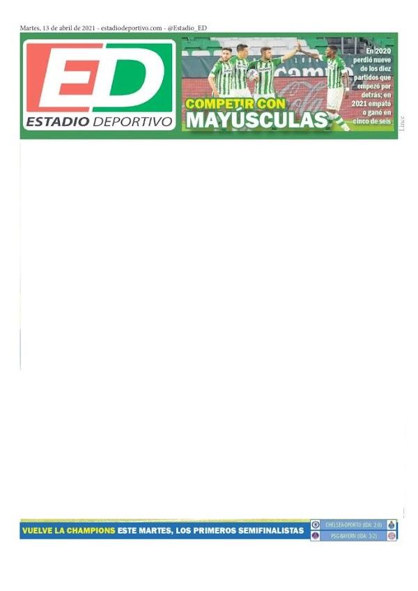"""Betis, Estadio Deportivo: """"Competir con mayúsculas"""""""