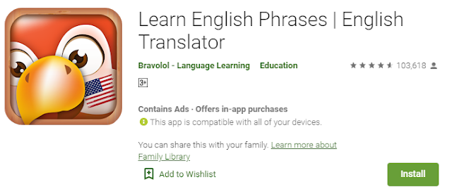 Aplikasi Learn English Phrases