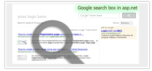 How to implement google search box in asp net | DotNet - awesome