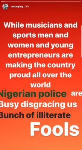 """Rudeboy Calls Nigerian Police """"Bunch Of Illiterate Fools,"""" They Are A National Disgrace, He Adds 