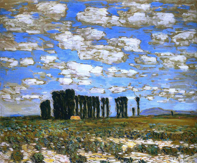 a Childe Hassam painting of a landscape