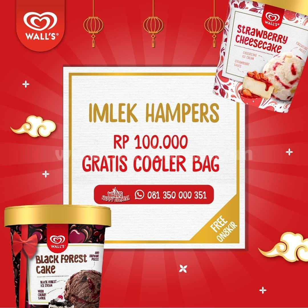 Promo harga Spesial WALL'S IMLEK HAMPERS! GRATIS Cooler Bag + ONGKIR hanya 100K