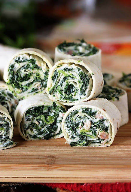 Tortilla Roll-Ups with Spinach, Bacon & Ranch Image