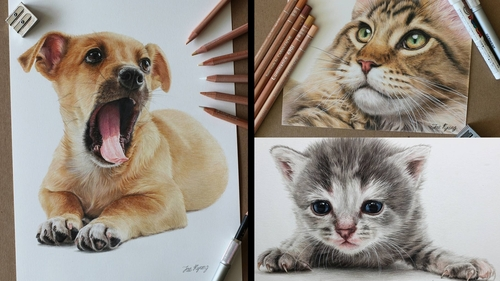 00-Jae-Kyung-Cute-Kittens-and-Puppies-Drawings-www-designstack-co