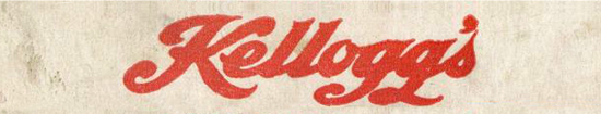 Kellogg's Toasted Corn Flakes, new logo 1907