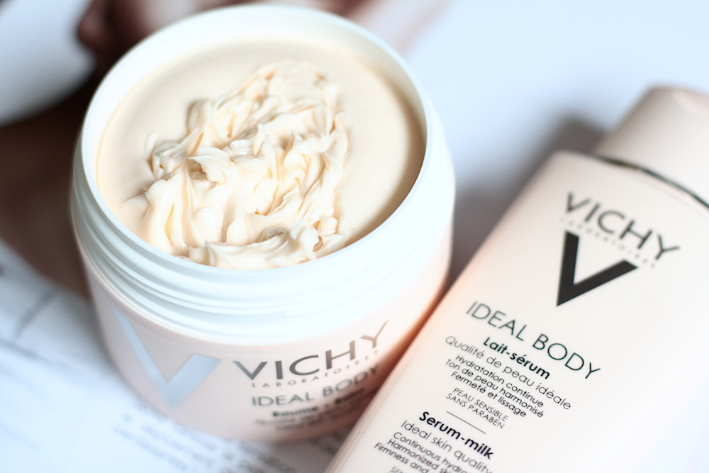 vichy ideal body lait serum baume corps avis test