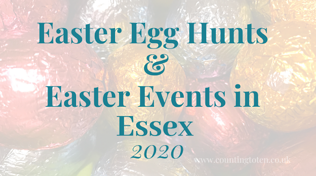 Easter holiday activIties and egg hunts for children in Essex in 2020 text over image of wrapped chocolate eggs