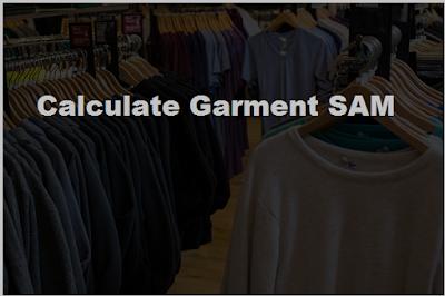 Calculation of garment SAM