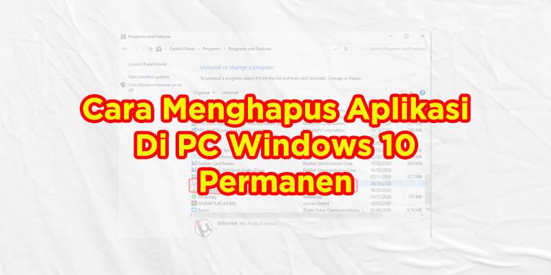 cara menghapus aplikasi windows 10
