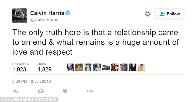Calvin Harris speaks out after breaking up with Taylor Swift