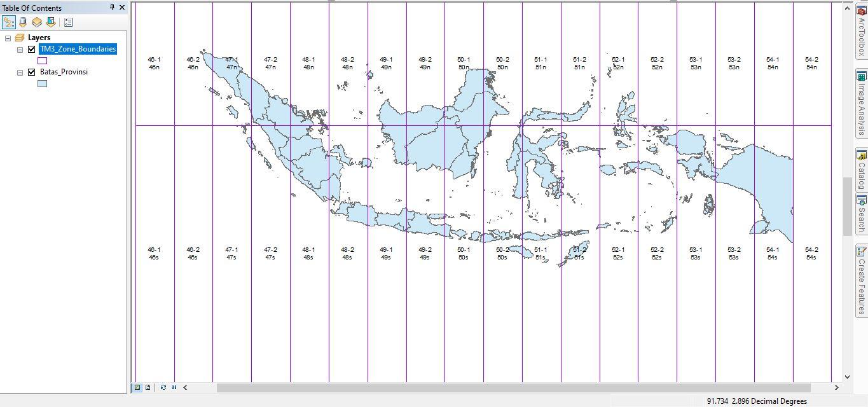 Shapefile Zona Sistem Koordinat TM3 Indonesia