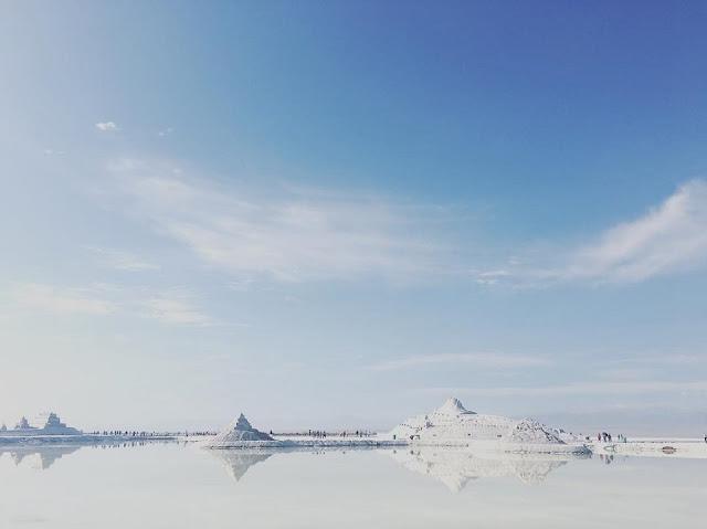 Hồ muối được kết tinh tự nhiên