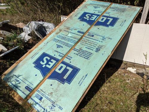 foam insulation backing on plywood