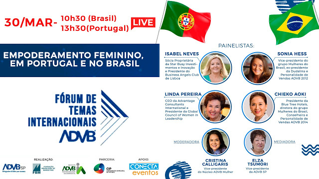 Empoderamento Feminino no Brasil e em Portugal: o encontro promete