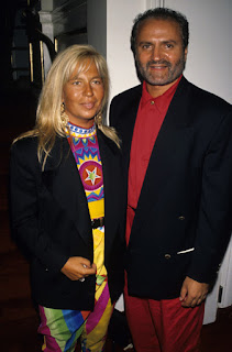 Donatella and Gianni Versace pictured in around 1990