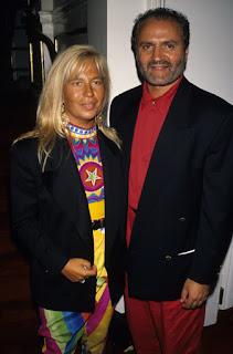 Donatella and Gianni Versace pictured in around 1990