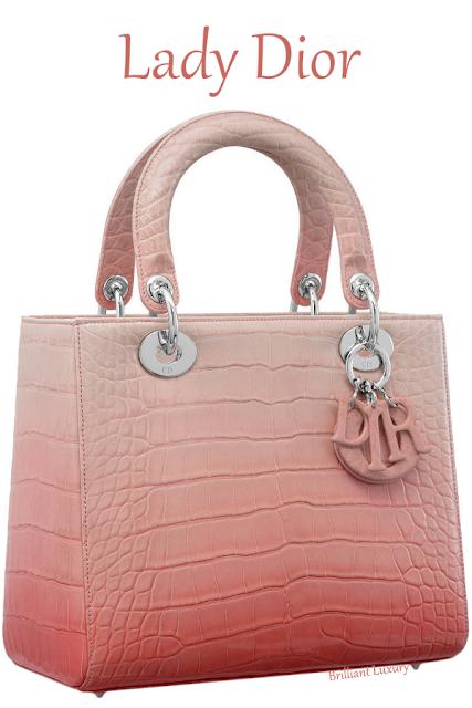 Shiny graded pink alligator Lady Dior bag #brilliantluxury