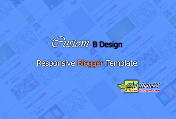 Custom B Responsive Blogger Template Preview
