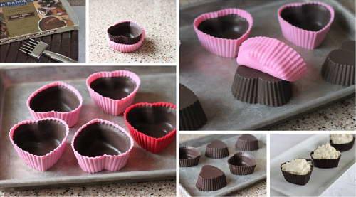 Tự làm kẹo Sô cô la hình trái tim