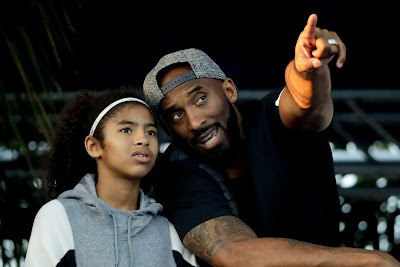 Kobe Bryant and his daughter Gianna in Irvine, Calif. in 2018