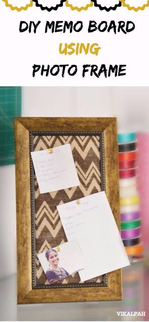 DIY ideas using photo frame