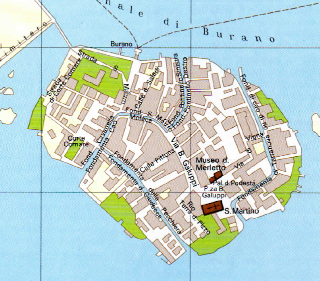 Mapa de Burano