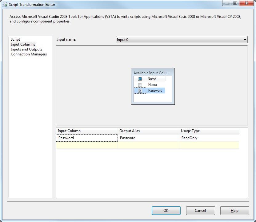Microsoft SQL Server Integration Services Encrypt column