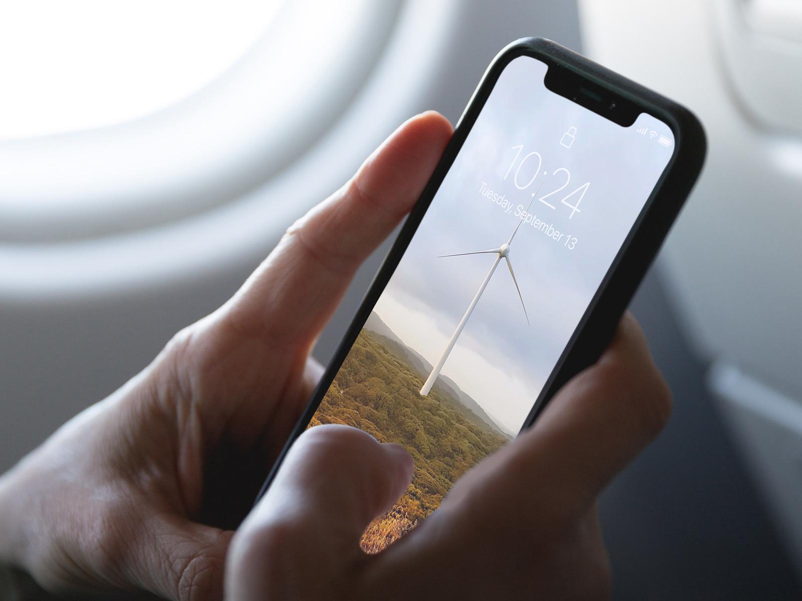 Plane Interior iPhone XS Mockup