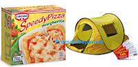Logo Speedy Pizza: stampa il buono sconto e vinci  gratis la tenda da campeggio