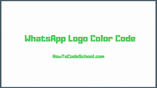 WhatsApp Logo Color Code