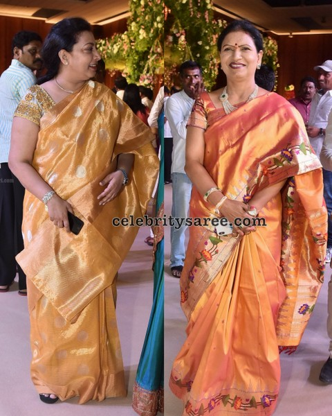 DK Aruna Balakrishna Wife Vasundhara Sarees