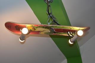 fertige Skateboardlampe