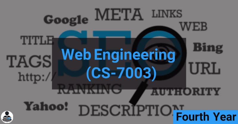 Web Engineering (CS-7003) RGPV notes CBGS Bachelor of engineering