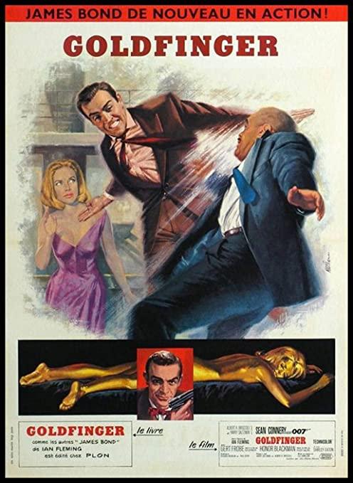 Goldfinger Poster en Francais