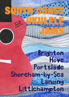 South Coast Uke Jams poster designed by Daniela Gargiulo @ivyarch