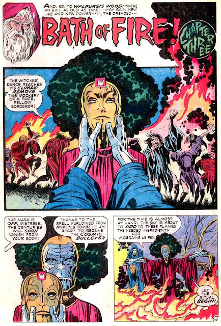 Demon v1 #2 dc bronze age comic book page art by Jack Kirby
