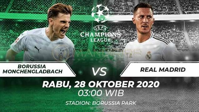 Prediksi Borussia Monchengladbach Vs Real Madrid, Rabu 28 Oktober 2020 Pukul 03.00 WIB @ SCTV