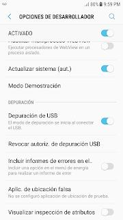 Depuración de USB Android Studio