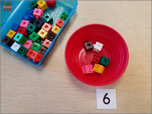 Use manipulatives to teach number concepts such as making sets and one to one correspondence.