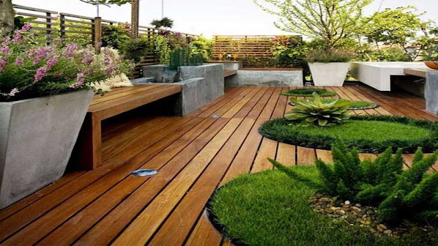 membuat taman minimalis di area rooftop
