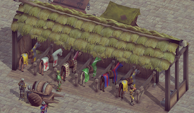 Tourney medieval stable building