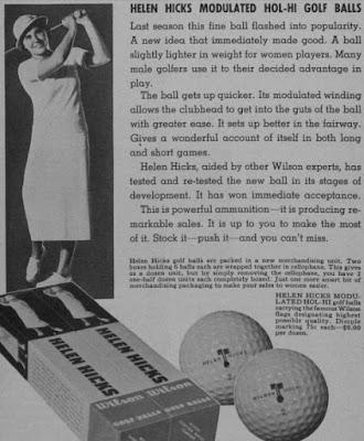 golfer Helen Hicks in an old Wilson Sporting Goods advertisement