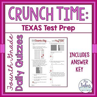 Fourth Grade Math Texas Test Prep Readiness Standards Quizzes