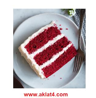 الكيكة المخملية الحمراء