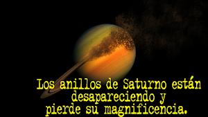 Los anillos de Saturno están desapareciendo y pierde su magnificencia.