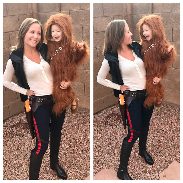 Not me, I couldn't rock the outfit. The little girl wanted to be Chewy!