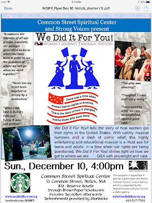 We Did It For You! Women's Journey Through History - Dec 10